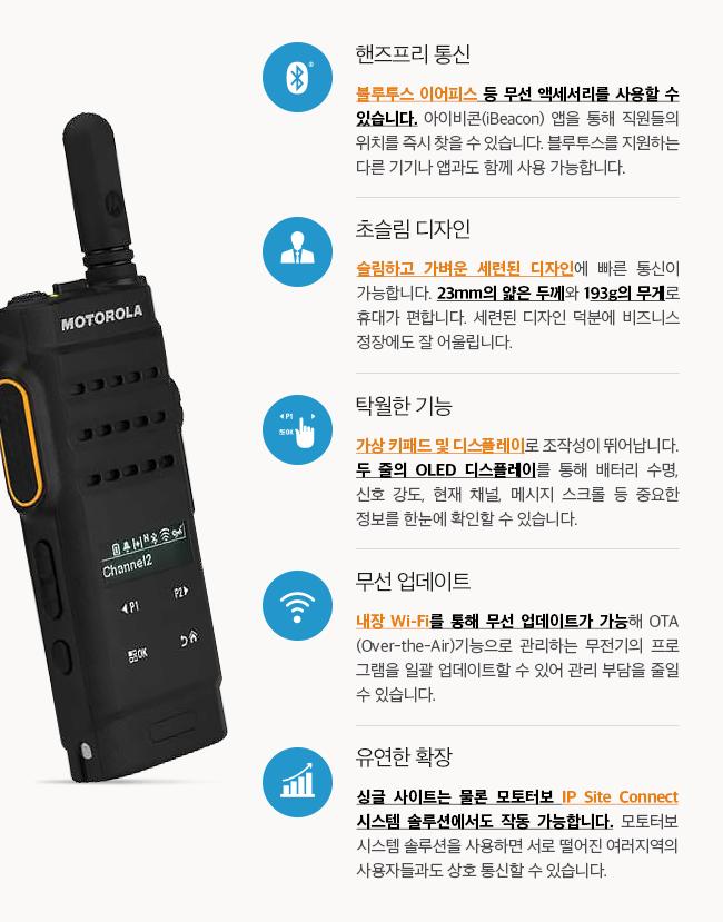 초슬림 디자인 + 탁월한 기능 + 핸즈프리 통신 + 무선 업데이트 + 유연한 확장